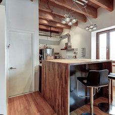 Industrial Kitchen by Big Panda Design