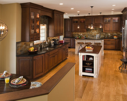 Dark Oak Cabinets Home Design Ideas, Pictures, Remodel And