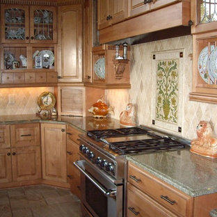 Contemporary kitchen ideas - Example of a trendy kitchen design in Other