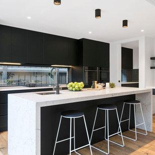 Design ideas for a contemporary kitchen in Melbourne.