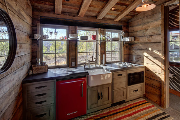 Rustic Kitchen by Magleby Construction