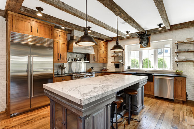 Farmhouse Kitchen by Anthony James Construction