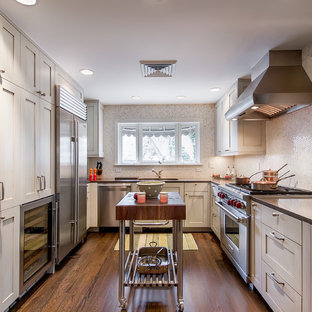 Narrow Kitchen Island | Houzz on galley kitchen plans with island, galley kitchen makeovers with island, modern kitchen designs with island, galley kitchen design layout with island,