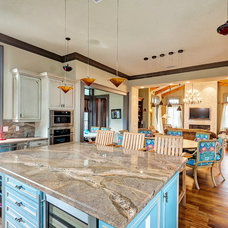 Tropical Kitchen by Emerald Coast Real Estate Photography