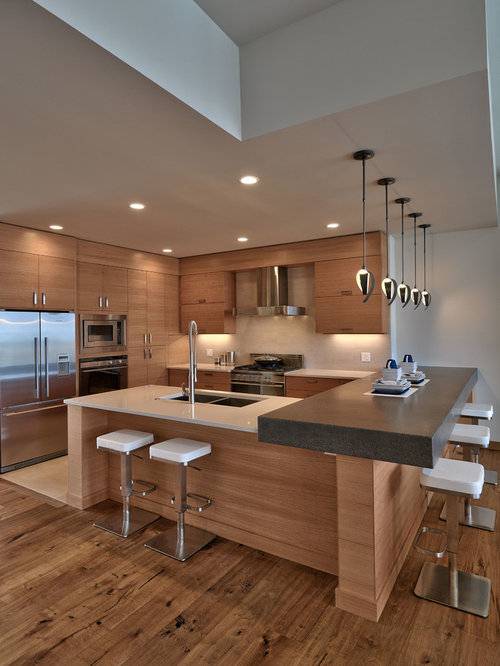 Mid Sized Contemporary Open Concept Kitchen Ideas