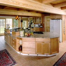 Traditional Kitchen by Habitat Post & Beam, Inc.