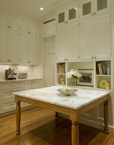 Transitional Kitchen by Ethelind Coblin Architect P.C