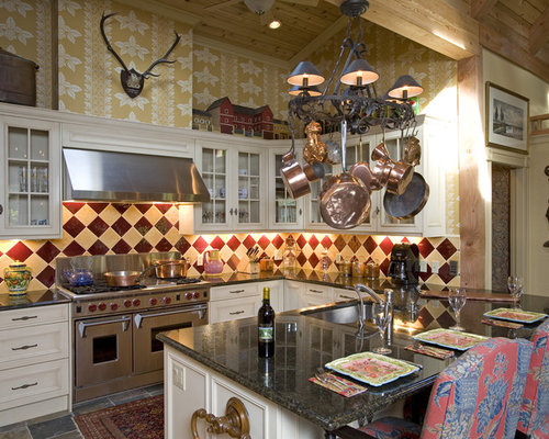 Red and yellow backsplash ideas, pictures, remodel and decor