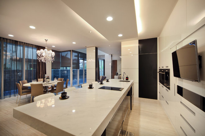 Contemporary Kitchen by The Interior Place (S) Pte Ltd