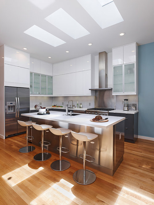 L Shaped Kitchen Island Houzz