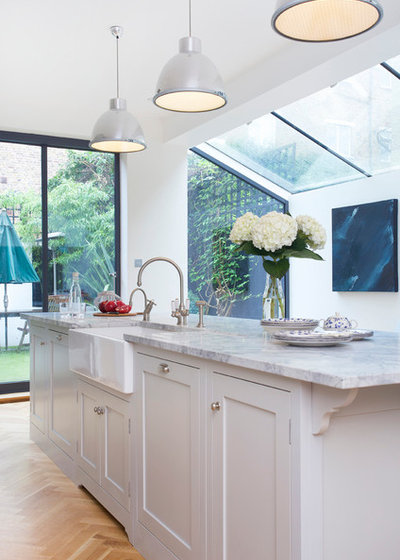 Kitchen of the Week: Traditional Shaker Kitchen in a London Townhouse
