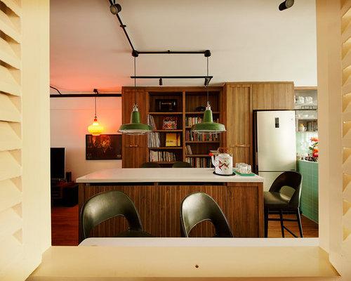 Midcentury Kitchen In Singapore.