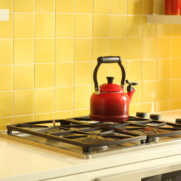 """30"""" Gas Cooktop in Compact Kitchen"""