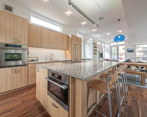 cuisine am ricaine avec un plan de travail en terrazzo photos et id es d co de cuisines. Black Bedroom Furniture Sets. Home Design Ideas