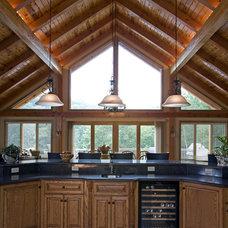 Contemporary Kitchen by Habitat Post & Beam, Inc.