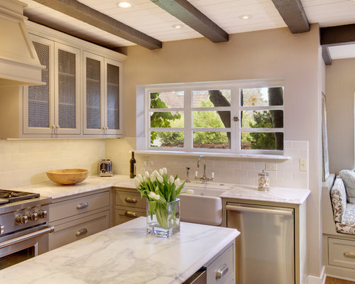 Low ceiling kitchen houzz for Kitchen remodel 8 foot ceilings