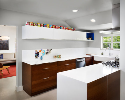 Ikea adel white cabinets houzz for Adel kitchen cabinets