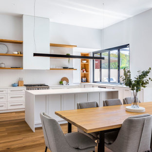 Contemporary kitchen in Adelaide.