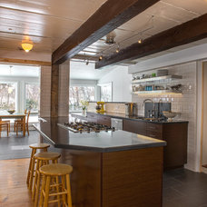 Transitional Kitchen by Hinman Construction