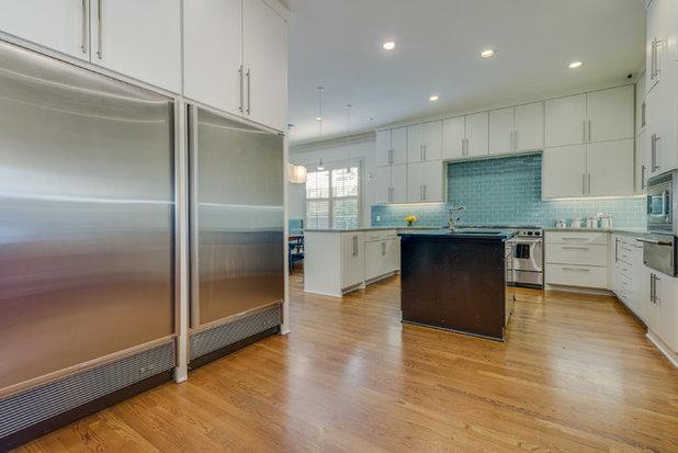 Transitional Kitchen by Reagan Jobe Photography