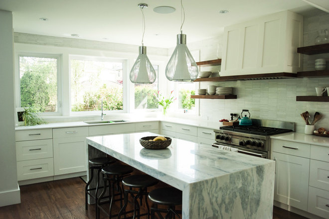 Transitional Kitchen by Miles Design