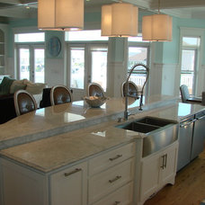 Beach Style Kitchen by Charles Fox Homes