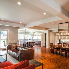 Transitional Kitchen by Venture Architecture