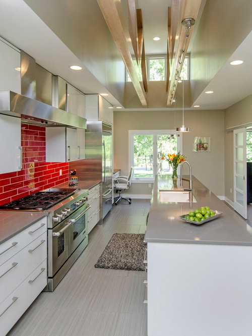 red subway tile | houzz