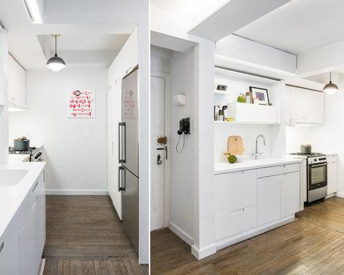 k chen mit integriertem waschbecken und vorratsschrank. Black Bedroom Furniture Sets. Home Design Ideas