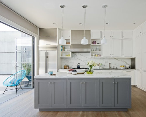 Gray And White Kitchens Houzz