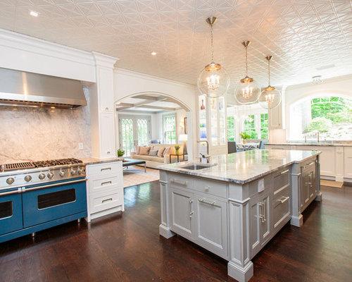14 victorian kitchen design photos with coloured appliances