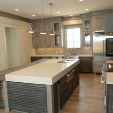 Transitional Kitchen by Southland Homes of Texas
