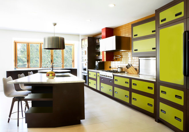 eclectic kitchen by Applegate Tran Interiors