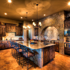 Mediterranean Kitchen by Jeff Watson Homes, Inc.