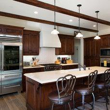 Mediterranean Kitchen by Kevin Rugee Architect, Inc.