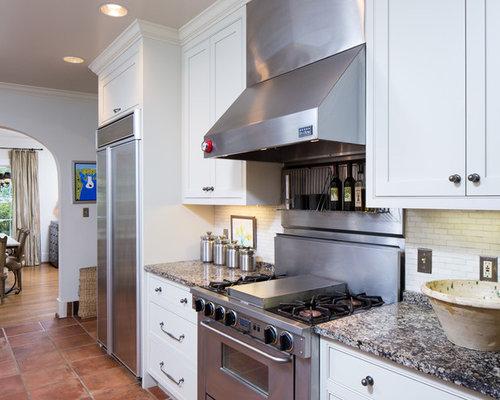 Cucina con pavimento in terracotta birmingham foto e idee per