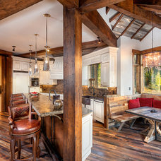 Rustic Kitchen by Pinnacle Mountain Homes