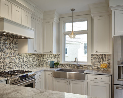 tile kitchen countertops stainless steel farmhouse sink houzz 2759