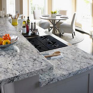White Ice Granite | Houzz on white granite kitchen, white kitchen counter material, white kitchen counter bar,