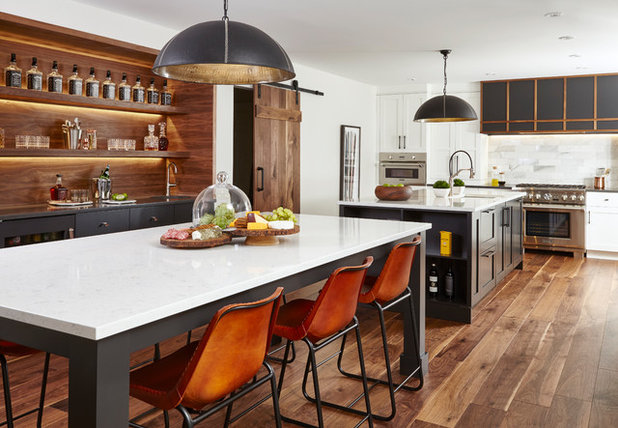 Transitional Kitchen by Square Footage Inc.