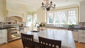 "A beautiful 48"" Stainless Steel BlueStar Range in a Beautiful Classic Kitchen"