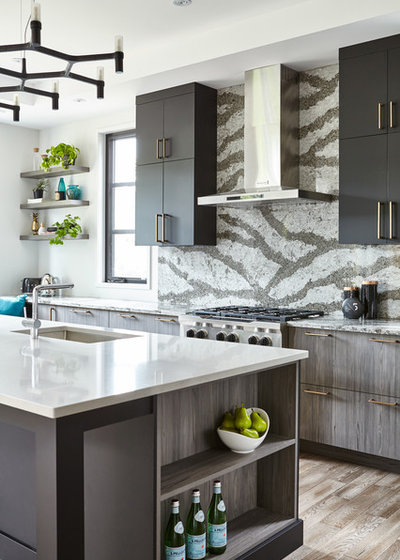 Good Contemporary Kitchen by Square Footage Inc