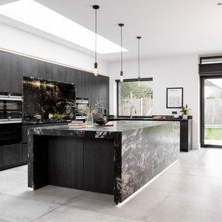 A Black Monochromatic Kitchen
