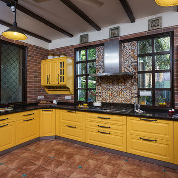 A Cheery Kitchen Dressed in Retro Vibes