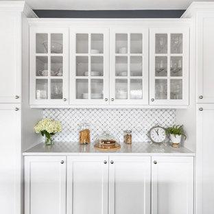 A Classic Blue-Gray Farmhouse Kitchen