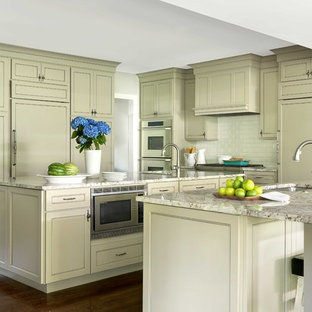 Cream And Grey Kitchen Ideas Photos Houzz - Green and grey kitchen ideas