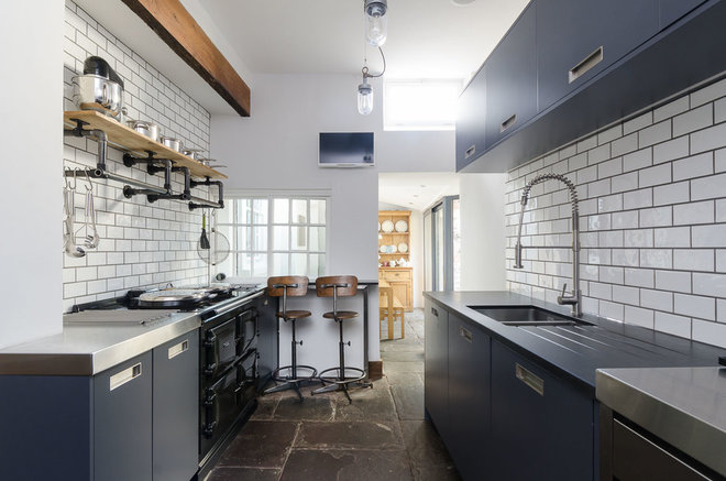 Industrial Kitchen by Moon Design + Build