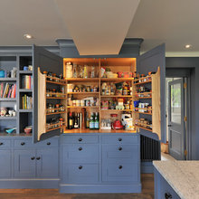 Colorful Cabinetry in an English Farmhouse Kitchen