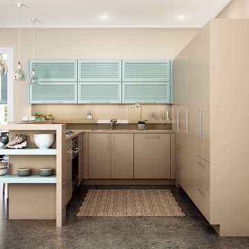A Contemporary Pastel Beach House Kitchen from Dura Supreme Cabinetry Ideas
