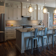 Transitional Kitchen by Rooftight Construction